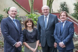 Phil Hogan, EU Commissioner for Agriculture and Rural Development (second from right) with from left; Michael Boyd, South East Region Chairman, SCSI, Pauline Daly, President, SCSI and Tom McDonald, Chair of the SCSI Rural Practice Professional Group