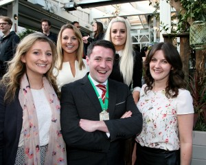 (Front Row L - R) Teresita Kelly, Colin Daly, Aoife Foley, Lisa Geoghegan and Emily Martin of Green REIT