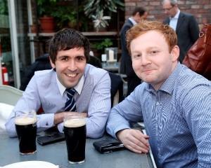 (L - R) James Kearne  and Fintan Mc Cluskey of Lisney