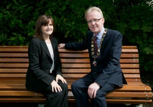 SCSI Immediate Past President, Pauline Daly and SCSI President, Andrew Nugent