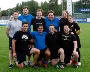 Standing- From left: Nigel Lowther, David Sayers, Jonny Willis, Aidan Brophy, Aileen Mooney, Gretta Neary Front from left: Ben Reilly, Antoine Xavier, Frank Cronin, David Verdon.