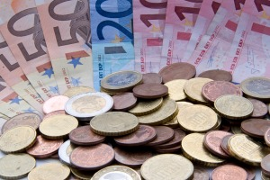 Close up of euros