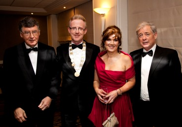 L-R: Bill Grimson Engineers Ireland, Andrew Nugent President SCSI, Collette McGongle and Seamus Ross.