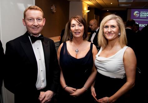 L-R; Matt Howell, Regional Managing Director UK & Ireland RICS, Patricia Byron, DG SCSI and Zoe O' Connor.