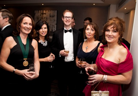 The Society of Chartered Surveyors Ireland Annual Dinner, Double Tree Hotel, Dublin. Pictured were from left: Carole Pollard, Kathryn Meghen, Cillian Doyle, Patrica Byron and Collette McGongle. Picture Colm Mahady / Fennells - Copyright©Fennell Photography 2016