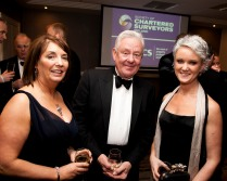 The Society of Chartered Surveyors Ireland Annual Dinner, Double Tree Hotel, Dublin. Pictured were Patrica Byron, DG SCSI, Stephen Vernon Green Properties and Claire Solon, Snr. Vice President SCSI. Picture Colm Mahady / Fennells - Copyright©Fennell Photography 2016
