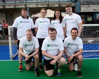 BNP PARIBAS Back Row L to R Kevin Flannery, Margaret Nolan, Siobhan Hanway, Mathew Vanston Front Row Robbie Coakley, Brian Kehoe. Barry Ronan