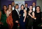 Front: Abigail Donnelly, Jordan West, Martha Garton, Amy Murphy, Sara Madigan. Back: Roger Hayes, Darren Gavin, Andrew Baldwin.