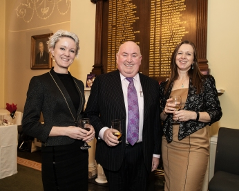 In photo L to R Claire Solon, Des Byrne and Davina Goodchild