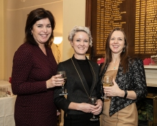 In photo L to R Aine Myler, Claire Solon and Davina Goodchild