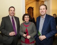In photo L to R John McNally, Carol jackson and Alex Walsh