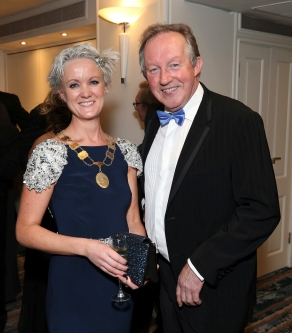 Claire Solan and Tom Parlon, pictured at the Society of Chartered Surveyors Ireland Annual Dinner 2017 held in the Clayton Hotel, Dublin.