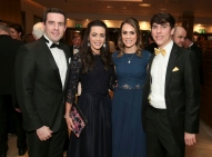 Pictured here at the Society of Chartered Surveyors Ireland Annual Dinner at the Clayton Hotel Burlington Road wereAndrew McBennett (left), Amy Holmes, Natalie McDowell and Fiachra Sudway.