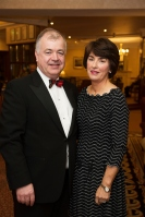 Padraic and Sandra Rhatigan at the SCSI, Society of Chartered Surveyors of Ireland West branch Annual Dinner 2017 at the Ardilaun Hotel, Galway. Photo:Andrew Downes.
