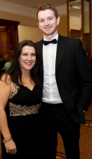 Rachel Byrne and Kevin Conlon Cushman Wakefield at the SCSI, Society of Chartered Surveyors of Ireland West branch Annual Dinner 2017 at the Ardilaun Hotel, Galway. Photo:Andrew Downes.