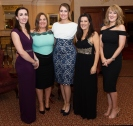 Helen Connaughton, Linda Boyle, Laura O'Donnell, Rachel byrne and Gina Callinan Cushman Wakefield at the SCSI, Society of Chartered Surveyors of Ireland West branch Annual Dinner 2017 at the Ardilaun Hotel, Galway. Photo:Andrew Downes.
