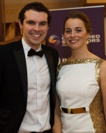 John Haverty AECOM and Marie McMullin Menlo Galway at the SCSI, Society of Chartered Surveyors of Ireland West branch Annual Dinner 2017 at the Ardilaun Hotel, Galway. Photo:Andrew Downes.