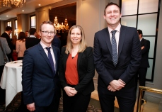 Diarmuid Geraghty and Joanne Boswell from Cushman and Wakefield with Stephen Burke from Harcourt Development