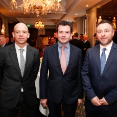 David Carberry and Paul Mooney from Bench Mark Property with Stephen McQuade from 2HQ Consulting
