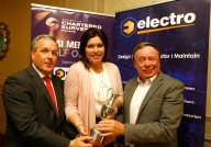 Colin Bray, SCSI President, Aine Myler, SCSI Director General, Vincent Hickey
