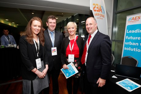 Angela Power and Cliona Fagan from Lansdowne Partnership with Robert Murphy and Paul Curtis from AES Bord Na Mona