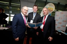 Dan Boyd from Hibernia Reit with Robert Murphy and Paul Curtis from AES Bord Na Mona