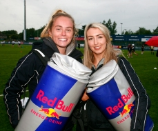 RED BULL Girls L to R NikKi Good & Phoebe Comerford.