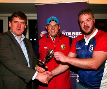 Walls Team Captain Paul McDermot with John Nolan of Walls Construction (Sponsors) and David Rowe, YSCSI Chair