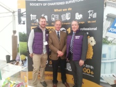 Patrick King, SCSI Thomas Potterton, Chartered Estate Agent and Colin Bray, SCSI President