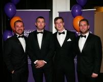 Mc Govern Surveyors (L to R ) - Ciaran Gorham ( Vice Chair of the YSCSI ), Tom Aspell, Darren Lynch, James McManus