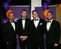 Mc Govern Surveyors (L to R ) - Ciaran Gorham ( Vice Chair of the YSCSI ), Tom Aspell, Darren Lynch, James McManus