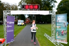 Finish Line 3K female winner Ciara O'Driscol