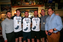 McGovern Surveyors 2nd Place Team - Ruairi Mallon (YSCSI), Darren Lynch, James McManus, Ciaran Gorham, Pat McGovern, David Rowe (Chair of the YSCSI)