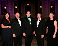 L-R: Aine Myler (Director General, SCSI), Des O'Broin ( Senior Vice President of the SCSI ), David Rowe ( Chair of the YSCSI ), Colin Bray ( President of the SCSI), Johanna Gill ( Second Vice- President of the SCSI)