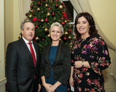 Colin Bray, SCSI President, Claire Solon, SCSI Past President and Áine Myler, SCSI Director General