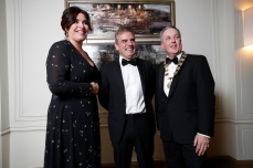 SCSI Director General Aine Myler with Paul McGinley and SCSI President Colin Bray
